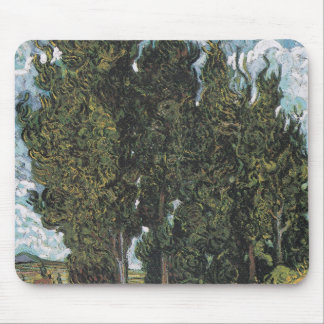 Cypress Trees by Van Gogh Mouse Pad