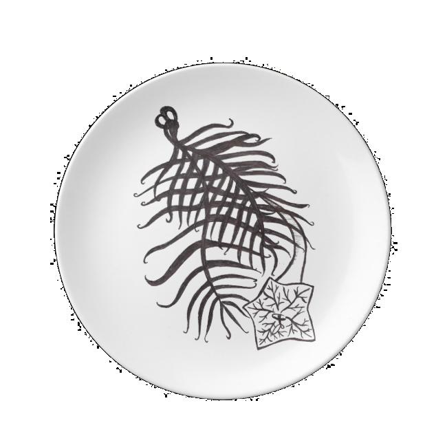 Cypress Vine Illustration Porcelain Plates