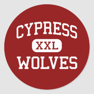 Cypress - Wolves - Middle - Memphis Tennessee Classic Round Sticker