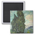 Cypresses, 1889 2 inch square magnet
