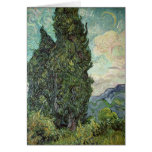 Cypresses, 1889 greeting card