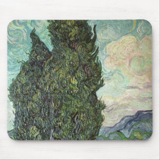 Cypresses, 1889 mouse pad