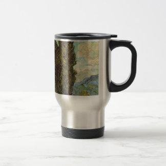 Cypresses, 1889 travel mug