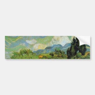 Cypresses by Vincent van Gogh Car Bumper Sticker