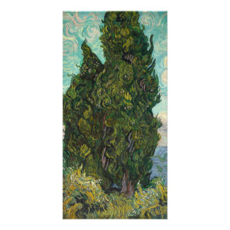 Cypresses by Vincent Van Gogh Card