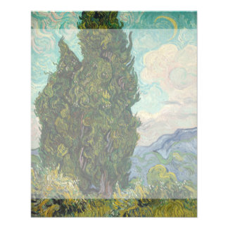 Cypresses by Vincent Van Gogh Flyer