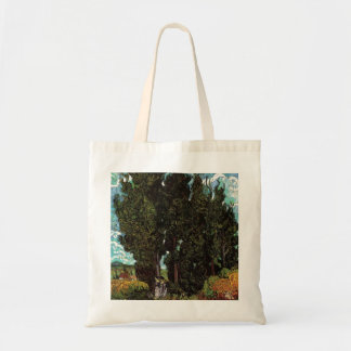 Cypresses with Two Female Figures by van Gogh Tote Bag