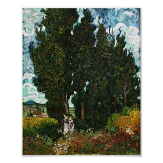 Cypresses with Two Women Vincent van Gogh Print
