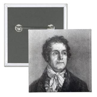 Cyprien Gaulon, 1824-5 2 Inch Square Button