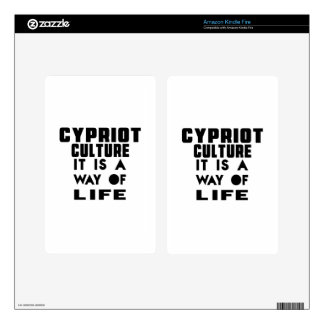 CYPRIOT CULTURE IT IS A WAY OF LIFE KINDLE FIRE DECAL