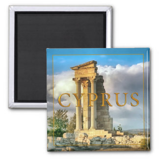 Cyprus 2 Inch Square Magnet
