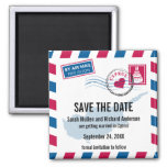 Cyprus Air Mail Wedding Save the Date Refrigerator Magnet