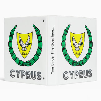 Cyprus Coat of Arms Vinyl Binder