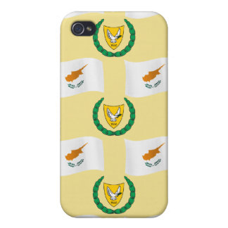 Cyprus Flag and Coat of Arms Cover For iPhone 4