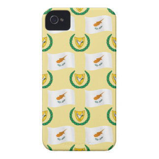 Cyprus Flag and Coat of Arms iPhone 4 Case-Mate Case