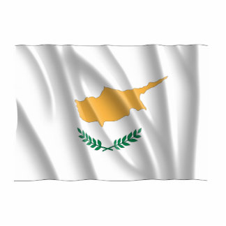 CYPRUS FLAG STANDING PHOTO SCULPTURE