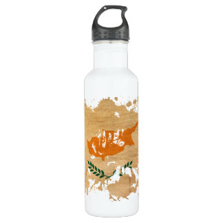 Cyprus Flag Stainless Steel Water Bottle