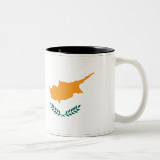 Cyprus Flag Two-Tone Coffee Mug