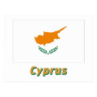 Cyprus Flag with Name Postcard