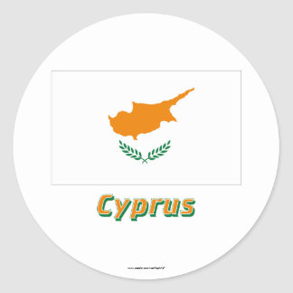 Cyprus Flag with Name Stickers