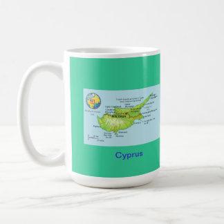 Cyprus map & flag coffee mug