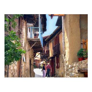 Cyprus mountain village postcard