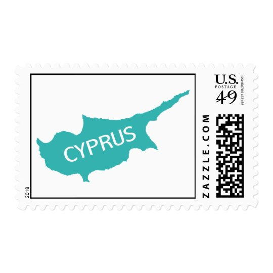 Cyprus Postage Stamp In Aqua And White