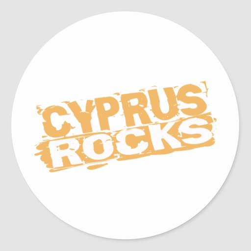 Cyprus Rocks Classic Round Sticker