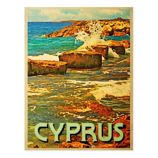 Cyprus Rocky Shore Post Card