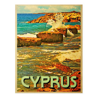 Cyprus Rocky Shore Postcard