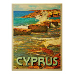 Cyprus Rocky Shore Poster