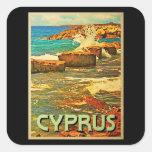 Cyprus Rocky Shore Square Sticker