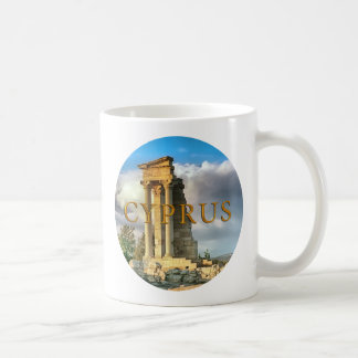 Cyprus ruins classic white coffee mug