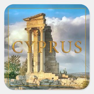 Cyprus Square Sticker