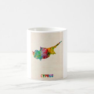 Cyprus Watercolor Map Coffee Mug