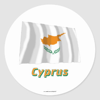 Cyprus Waving Flag with Name Sticker