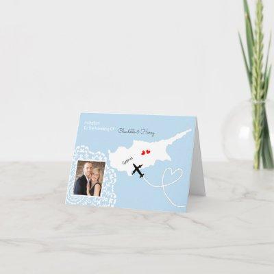 Cyprus Wedding Destination Invitation