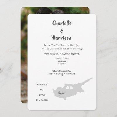 Cyprus Wedding Destination Photo Invitation