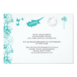 Cyprus Wedding Travel Information Personalized Announcement