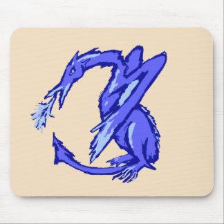Cyrak the Nervous Dragon Mouse Pad