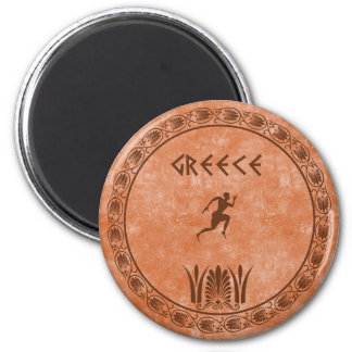 cyrcle greek design 2 inch round magnet