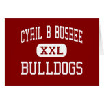 Cyril B Busbee - Bulldogs - Middle - Cayce Greeting Cards