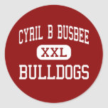 Cyril B Busbee - Bulldogs - Middle - Cayce Round Stickers
