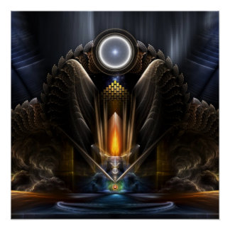 Cyritous, Temple - Orb Of Karinos Perfect Poster