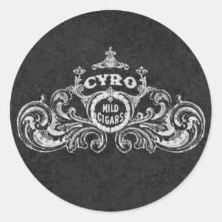 Cyro Mild Cigars Vintage Label Round Sticker