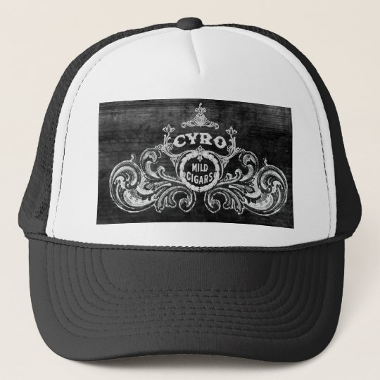 Cyro Mild Cigars Vintage Smoking Label Trucker Hat