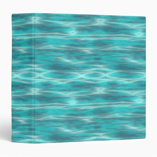 Cyrstal Blue Beach Water Vinyl Binder