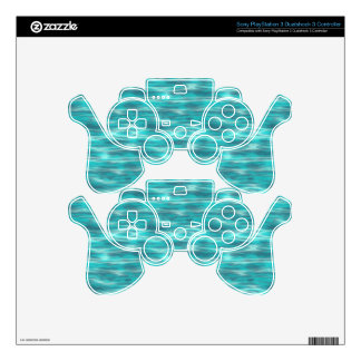 Cyrstal Blue Beach Water Skins For PS3 Controllers
