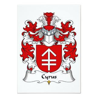 Cyrus Family Crest 5x7 Paper Invitation Card