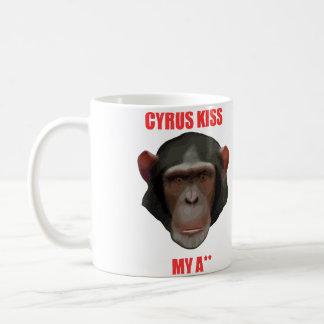 Cyrus kiss my a** coffee mug
